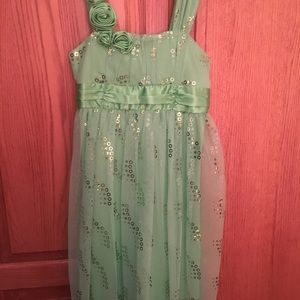 Amy Byer Green Sparkle Dress